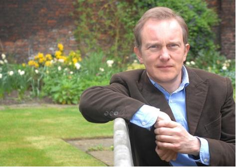 Simon in a garden